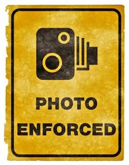 photo enforced grunge sign