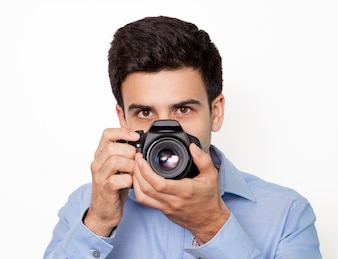 Photographic portrait manual reporter face