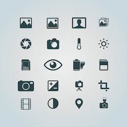 Photography icons free