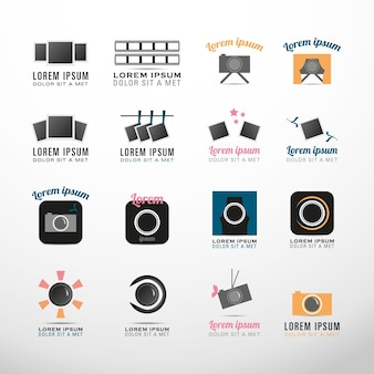 Photography symbols logo collection