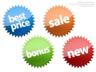 Photoshop shopping icons