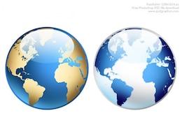 Photoshop world globe icon