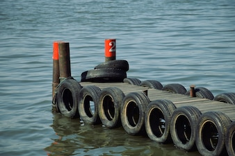 Pier with wheels