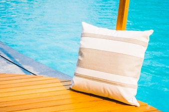 Pillow with pool