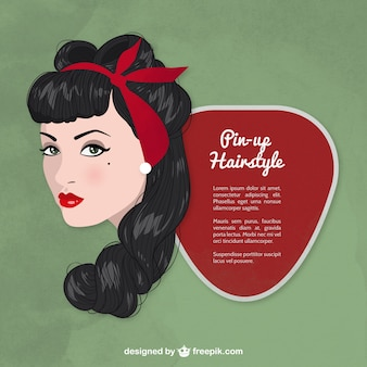 Pin-up hairstyle