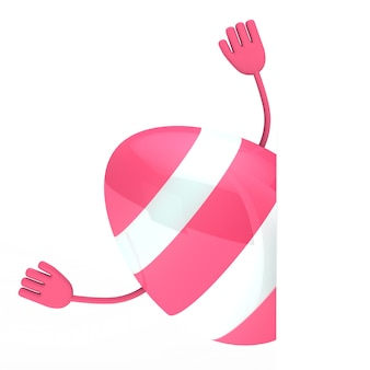 Pink egg with arms
