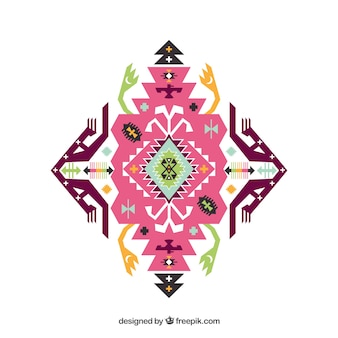 Pink ethnic ornament