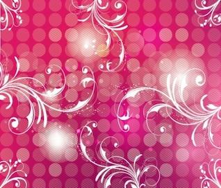 pink floral flower vector pack