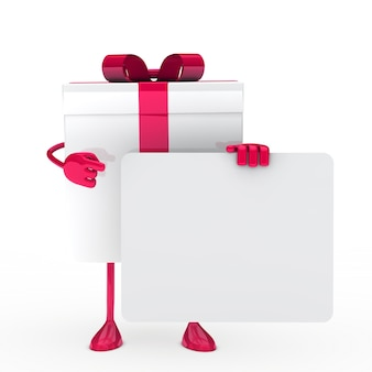 Pink gift with a poster