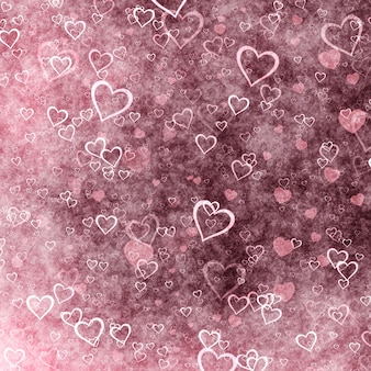 Pink hearts for valentine