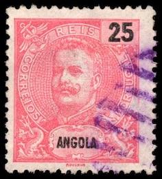 pink king carlos i stamp