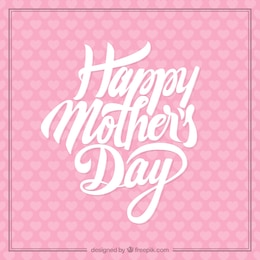 Pink mothers day card
