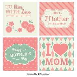 Pink mothers day cards collection