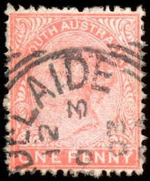 pink queen victoria stamp  profile