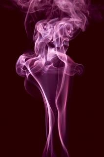 pink smoke  steam