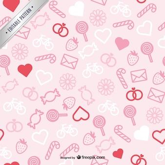 Pink Valentine's pattern