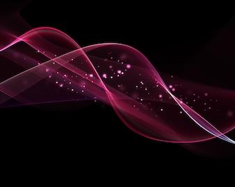 Pink wavy shapes