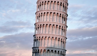 Pisa Tower with beautiful sky