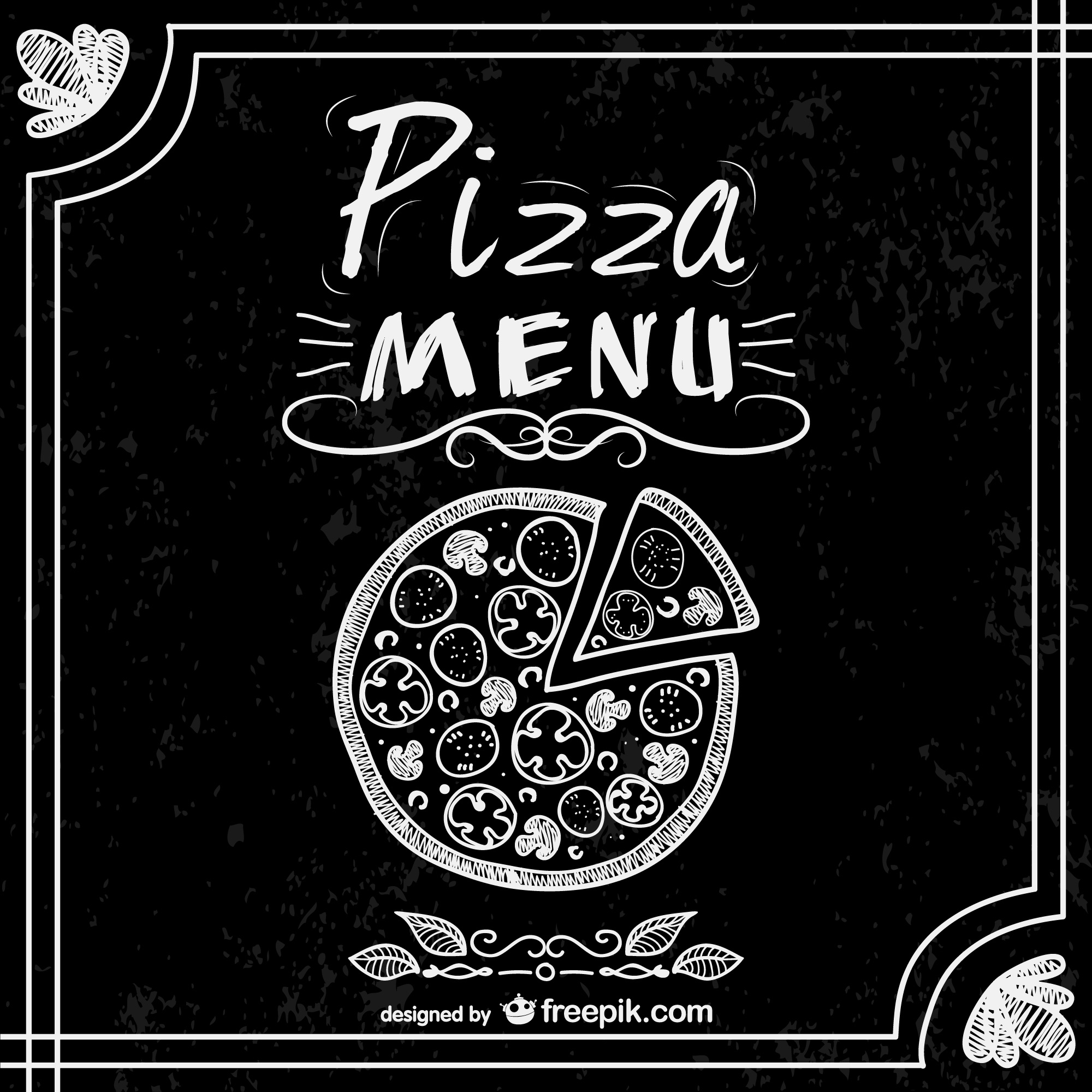 Pizza free vector restaurant menu