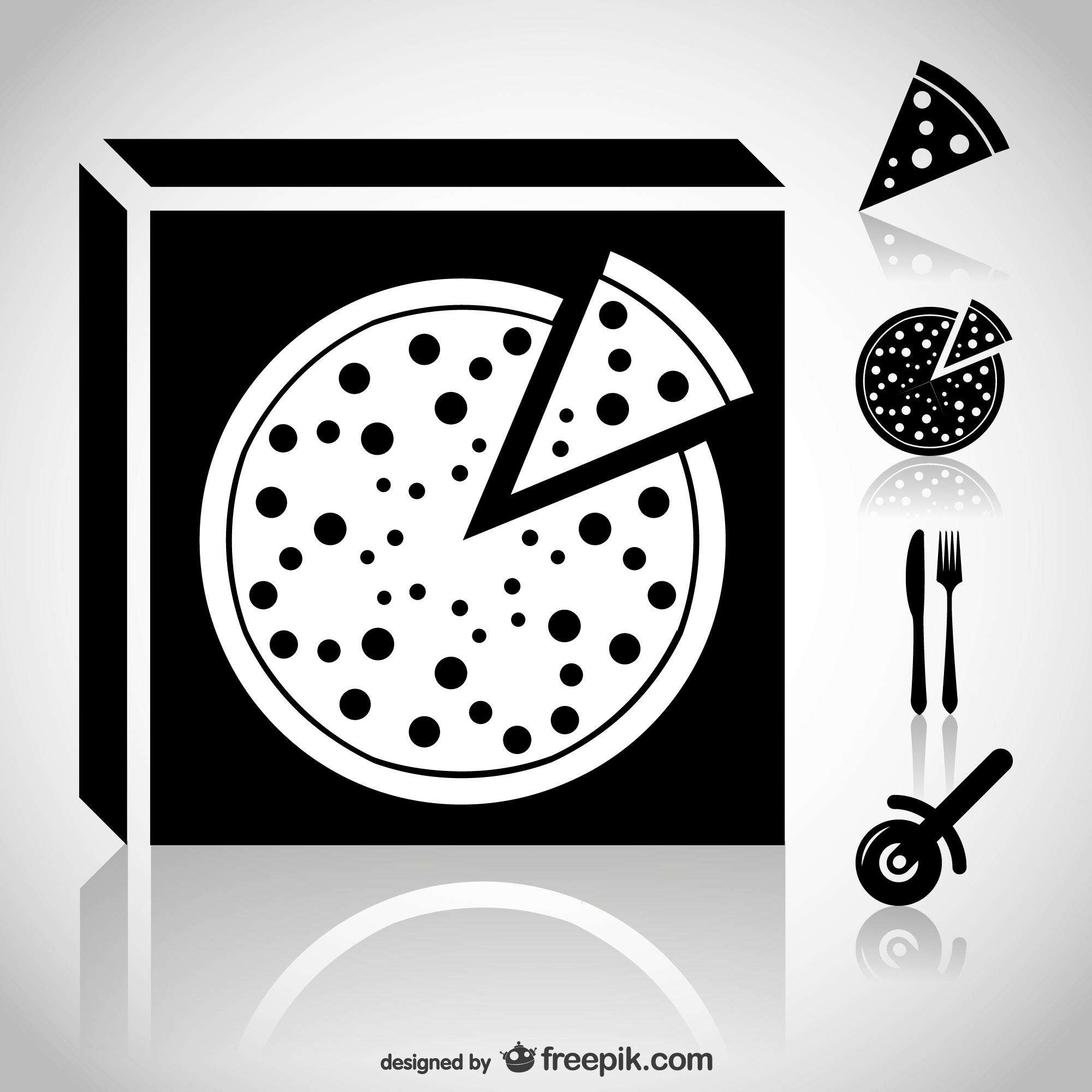 Pizza icons web set