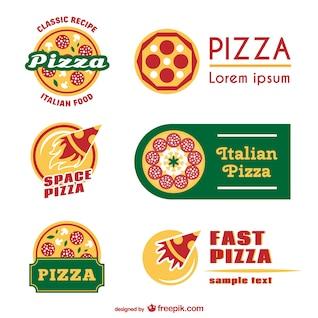Pizza logo templates