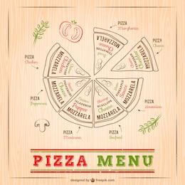 Pizza menu drawing