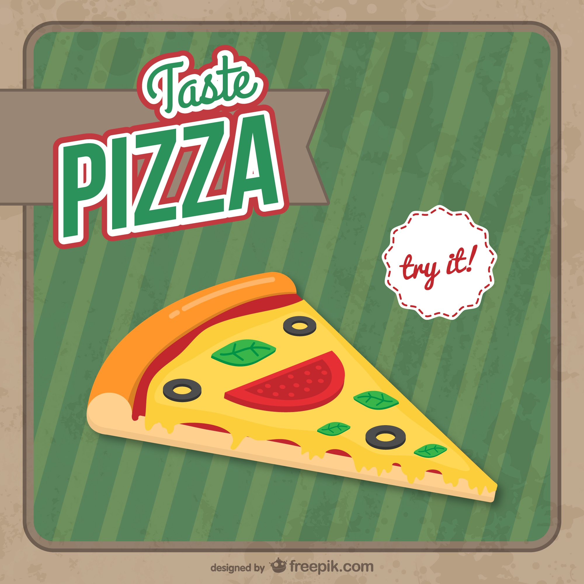 Pizza slice free vector