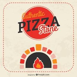 Pizza stone vector
