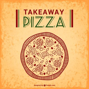 Pizza takeaway free vector