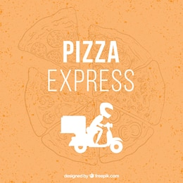 Pizzeria delivery boy vector design