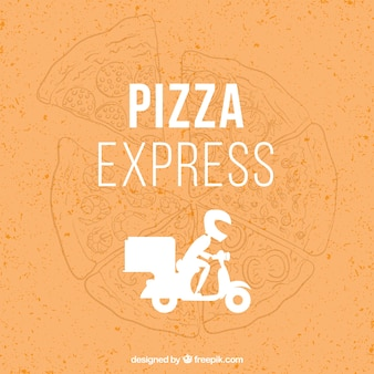 Pizzeria delivery boy vector design
