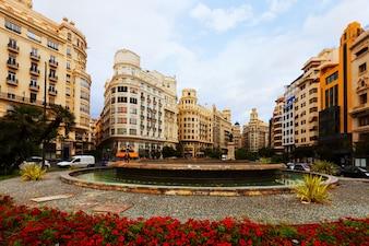 Placa del Ajuntament in Valencia, Spain