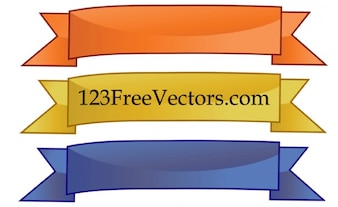 Plain 3-color vector banners