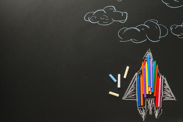 Plane made of chalk