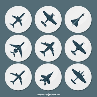 Plane silhouettes pack