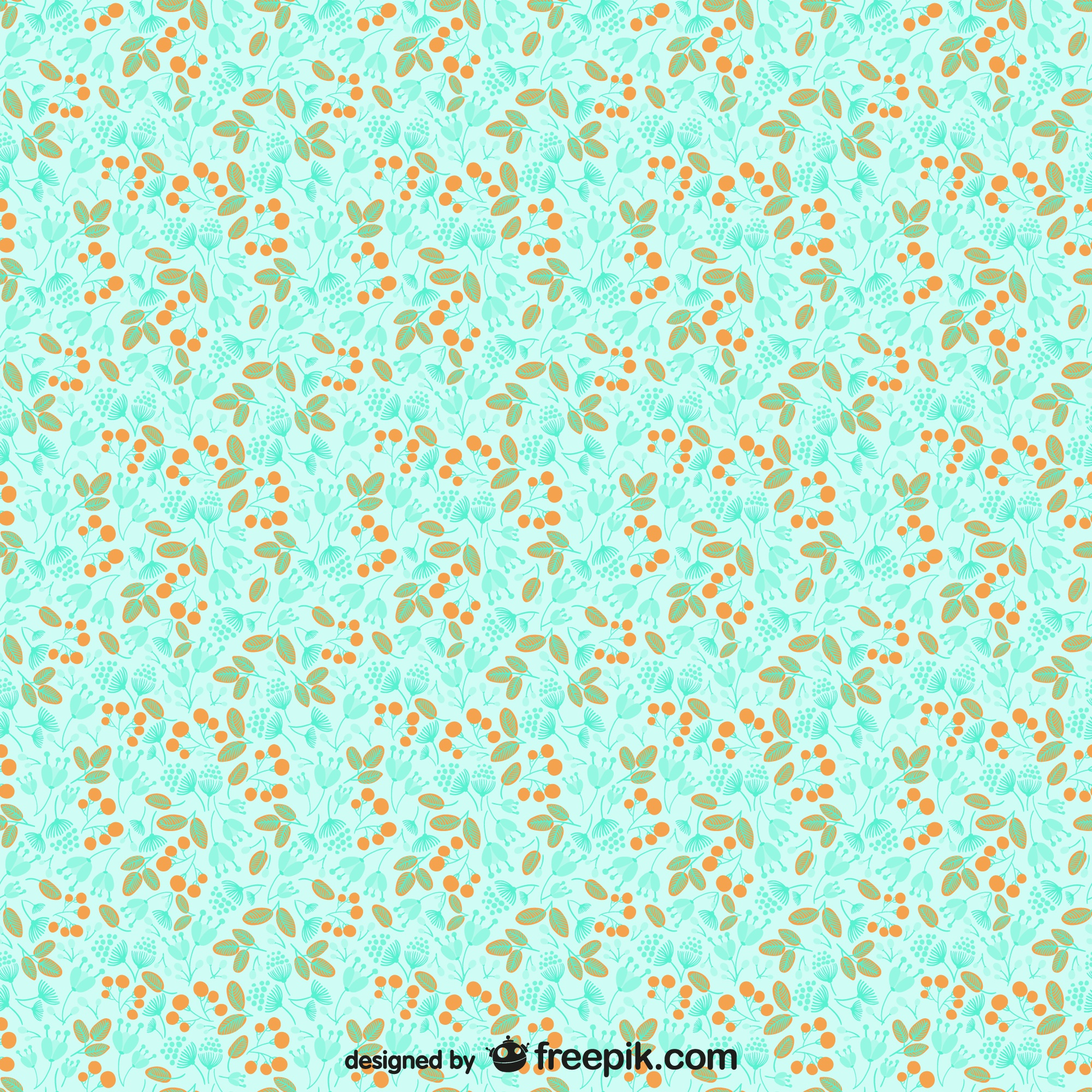 Plant seamless pattern