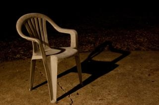 Plastic chair  shadows