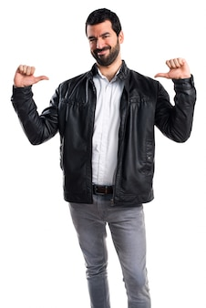 Pointing positive beard leather success