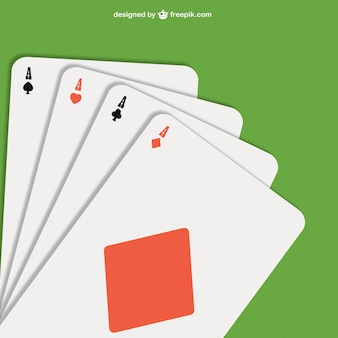 Poker aces illustration vector