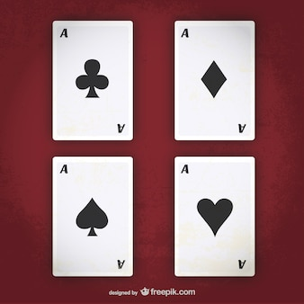 Poker aces vector