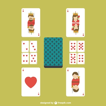 Poker heart cards vector