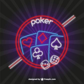 Poker neon vector