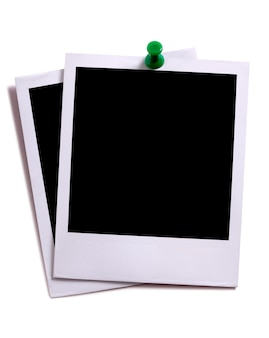 Polaroid photos with pin