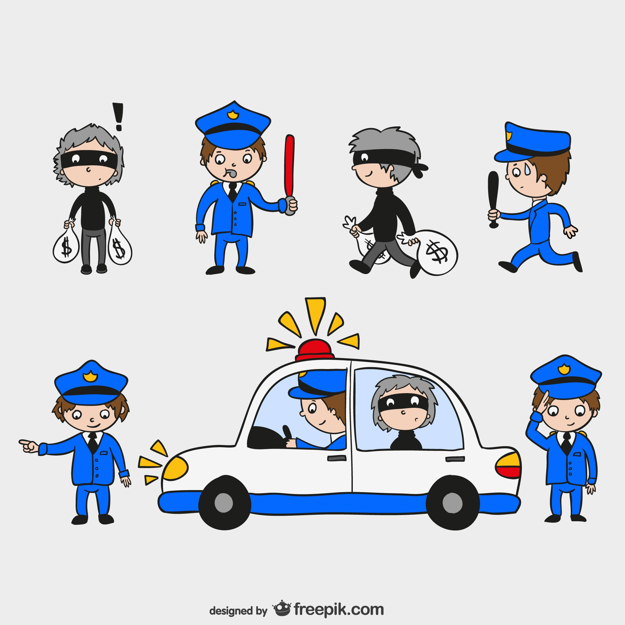Policemen and thieves characters