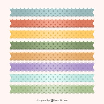 Polka dots ribbons