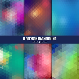 Polygon abstract background set