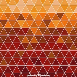 Polygonal background in autumnal tones
