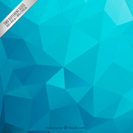 Polygonal background in blue tones
