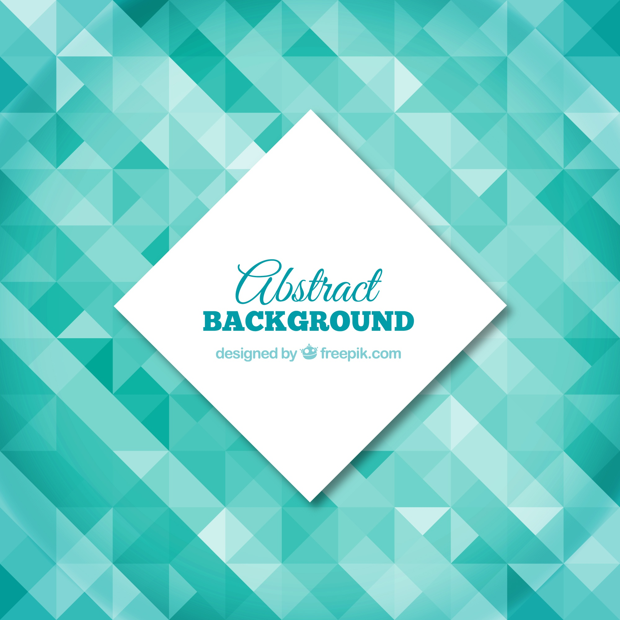 Polygonal background in turquoise tones