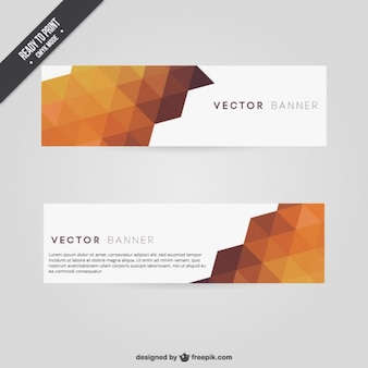 Polygonal banners in autumnal tones
